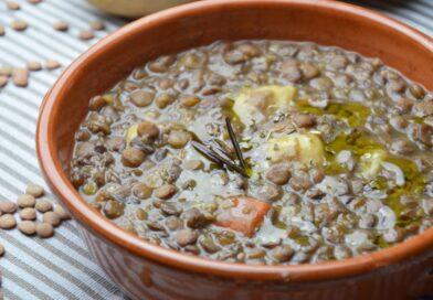 Zuppa lenticchie e patate
