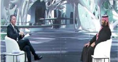 Matteo Renzi e Mohammed Bin Salman.